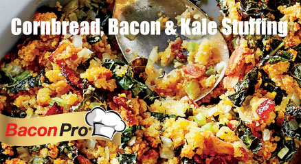 Cornbread-Bacon-Kale Stuffing