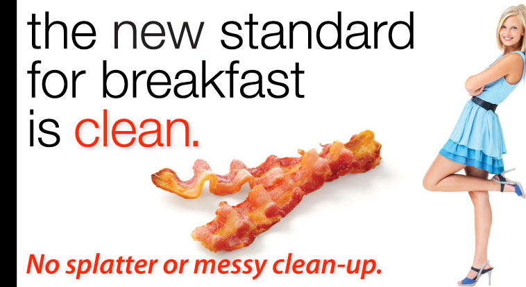 Clean and Easy Bacon Cooker Clean-up